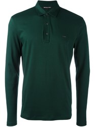 Michael Kors Longsleeved Polo Shirt Green