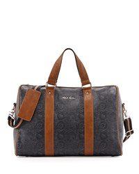 Robert Graham Overnight Bag In Faux Leather Black
