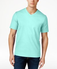 Club Room Men's Big And Tall V Neck T Shirt Only At Macy's Caribbean Turquoise