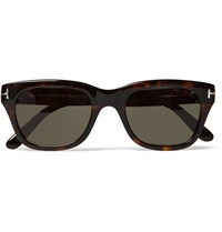 Tom Ford Square Frame Tortoiseshell Acetate Sunglasses