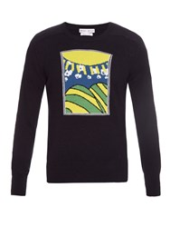 Michael Bastian Sun And Hills Intarsia Knit Cashmere Sweater