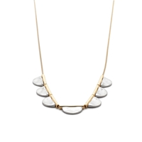 J.Crew Metal Drop Necklace Metallic Silver