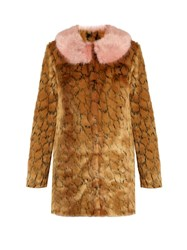 Shrimps Fifi Leopard Print Faux Fur Coat