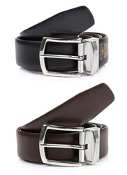 Dents Formal Leather Belt Brown