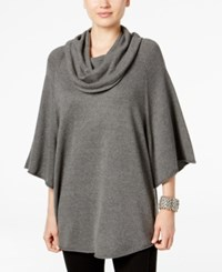 Styleandco. Style Co. Cowl Neck Poncho Sweater Only At Macy's Steel Grey Heather