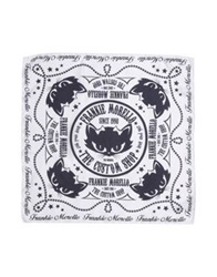 Frankie Morello Square Scarves White