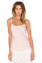 Milly Stretch Silk Cami Blush