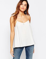 Glamorous Cami Top With Cross Back White
