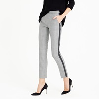 J.Crew Tall Martie Pant With Tux Stripe In Glen Plaid