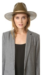 Janessa Leone Lani Tall Crown Panama Hat Olive