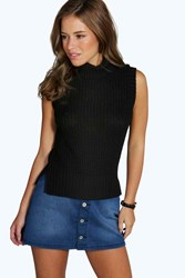 Petite Ruth Roll Neck Knitted Top
