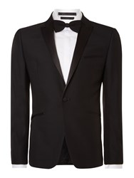 Kenneth Cole Dusk Tuxedo Jacket With Satin Peak Lapel Black