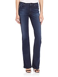 7 For All Mankind Kimmie Slim Illusion Bootcut Jeans Dark Blue