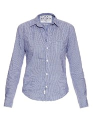 Frank And Eileen Barry Micro Checked Cotton Shirt