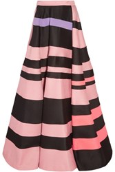 Roksanda Ilincic Osier Striped Wool Blend Maxi Skirt Pastel Pink