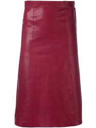 Vanessa Bruno 'Doma' A Line Skirt Red