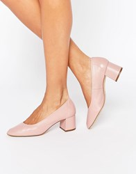 Faith Cassidy Nude Leather Mid Heeled Shoes Nude Beige