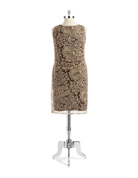 Anne Klein Plus Lace Overlay A Line Dress
