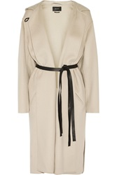 Isabel Marant Hacene Belted Wool And Cashmere Blend Coat White