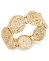Inc International Concepts Gold Tone Coiled Disc Stretch Bracelet Only At Macy's