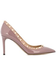 Valentino 'Rockstud' Pumps Nude And Neutrals