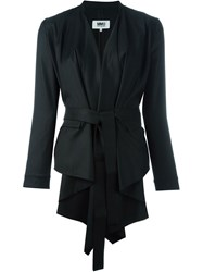 Maison Martin Margiela Mm6 Maison Margiela Draped Open Front Jacket Black