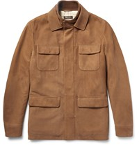 Loro Piana Nubuck Field Jacket Brown