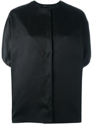 The Row Collarless Bomber Jacket Black