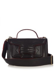 Pierre Hardy Alpha Leather Shoulder Bag Black