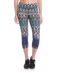 Karen Kane East Indies Active Cropped Pants Purple