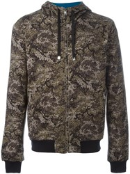 Dolce And Gabbana Pixellated Camouflage Jacket Green