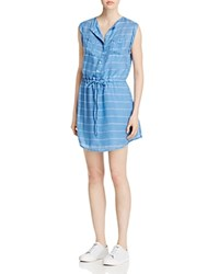Jack By Bb Dakota Cortland Striped Tie Waist Shirt Dress Summer Sky Blue
