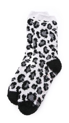 Pj Luxe Leopard Socks Black