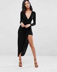 Rare Long Sleeve Asymmetric Dress Black