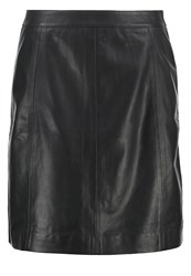 More And More Leather Skirt Black