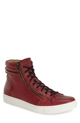 Andrew Marc New York Men's Andrew Marc 'Remsen' Sneaker Oxblood Black Leather
