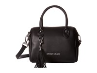 Armani Jeans Small Boston Bag With Tassle Detail Black