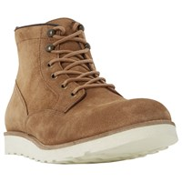 Dune Conrad Wedge Sole Lace Up Suede Boots Tan
