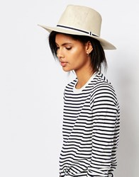 Vero Moda Straw Boat Hat Cream Multi