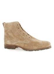 Topman Beige Salvo Suede Lace Up Boots