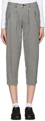 Tricot Comme Des Garcons Black And White Gingham Trousers