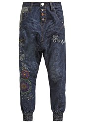 Desigual Turko Galactic Relaxed Fit Jeans Blue Denim