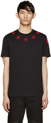 Givenchy Black And Red Stars T Shirt