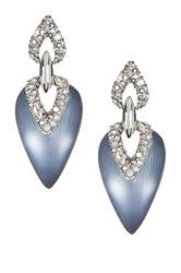 Alexis Bittar Lucite Crystal Encrusted Dangle Earrings Blue