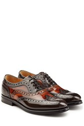 Churchs Glossy Leather Brogues Brown