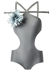 Adriana Degreas Strappy Swimsuit Grey
