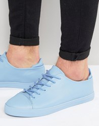 Asos Lace Up Trainers In Pastel Blue Block Pastel Blue
