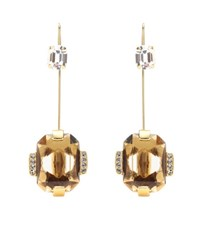 Marni Crystal Embellished Brass Earrings Gold