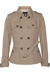 Day Birger Et Mikkelsen Palazzo Short Cotton Blend Trench Jacket Nude