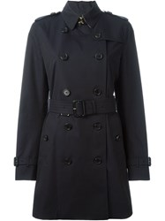 Burberry Prorsum Classic Trench Coat Blue